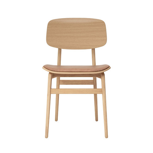NY11 Dining Chair, Natural Frame / Leather
