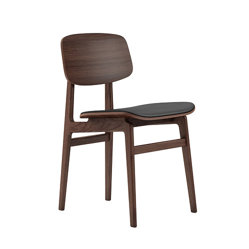 NY11 Dining Chair, Dark Stained Frame / LeatherNY11 Dining Chair, Dark Stained F