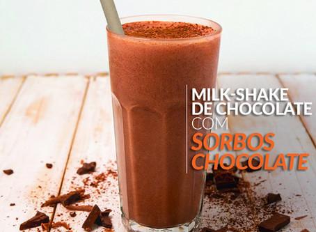 Milk-shake de chocolate e milk-shake de paçoca com Sorbos: aprenda como fazer