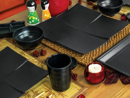 Conheça os utensílios em melamina que não podem faltar no seu jantar japonês