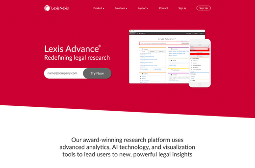 Lexis Advance Redesign - UX/UI Engineer & Designer Test Project
