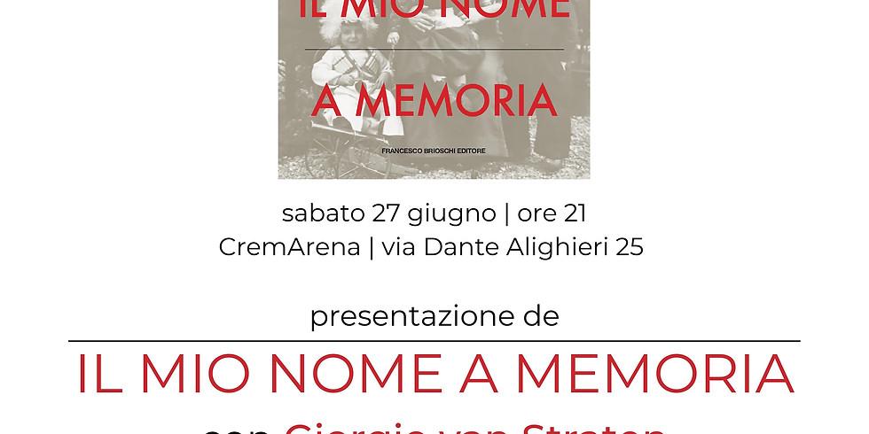 IL MIO NOME A MEMORIA