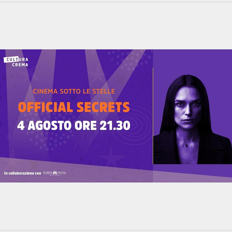 CINEMA SOTTO LE STELLE – OFFICIAL SECRETS