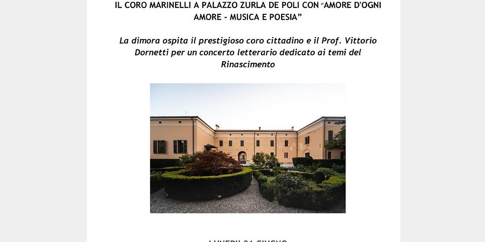 """IL CORO MARINELLI CON """"AMORE D'OGNI AMORE - MUSICA E POESIA"""""""