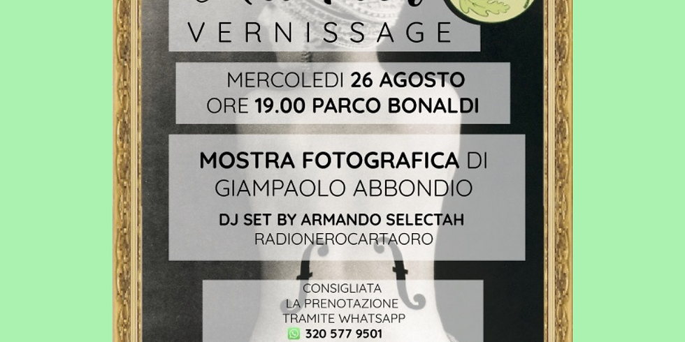 ART PARK MOSTRA FOTOGRAFICA DI GIANPAOLO ABBONDIO