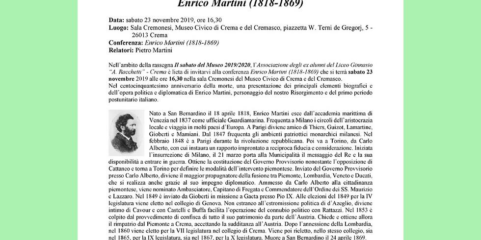 ENRICO MARTINI (1818-1869)