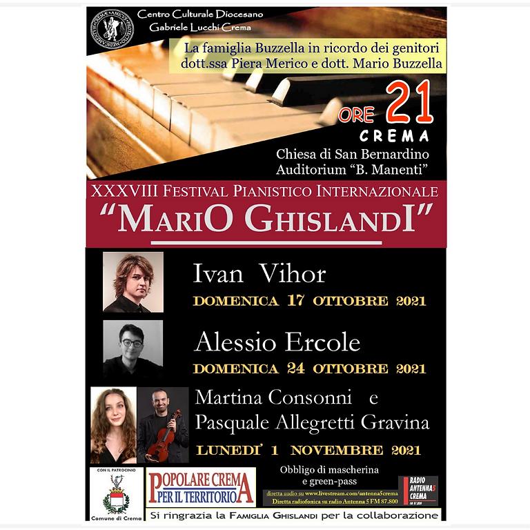"""FESTIVAL PIANISTICO INTERNAZIONALE """"MARIO GHISLANDI"""""""