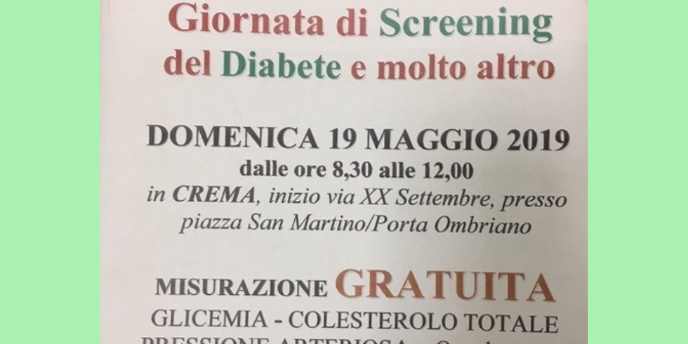 GIORNATA DI SCREENING DEL DIABETE