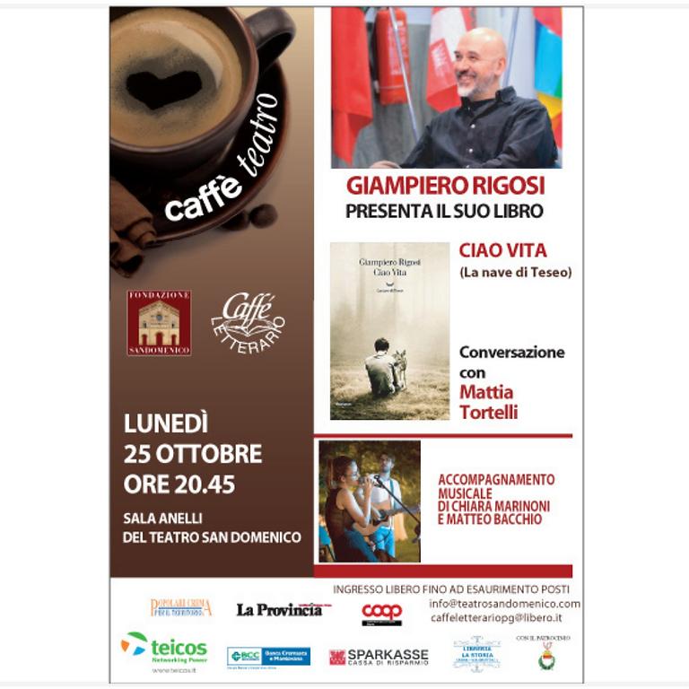 CAFFÈ LETTERARIO - PRESENTAZIONE LIBRO DI GIAMPIERO RIGOSI