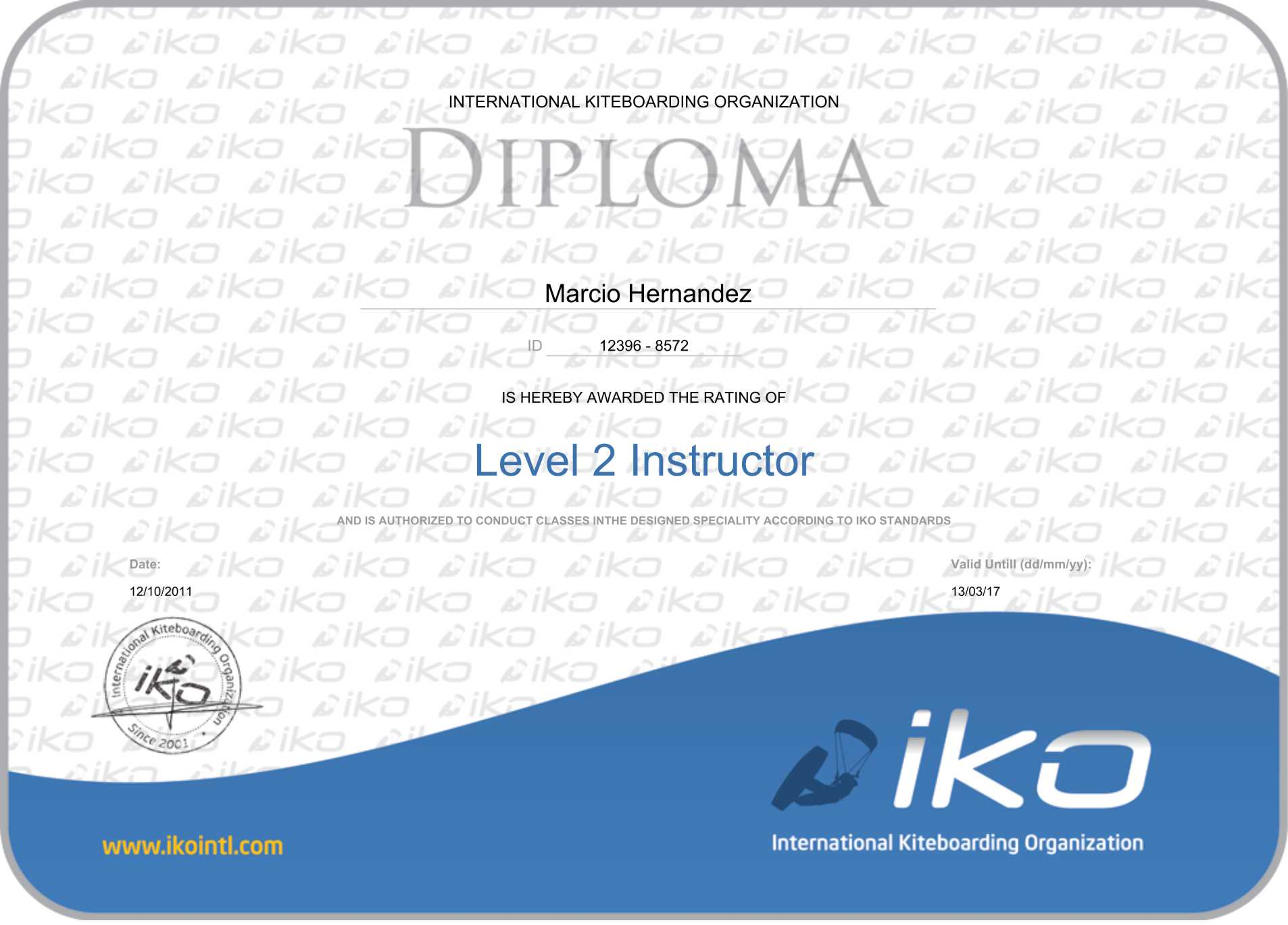 certificate_IKO-level 2