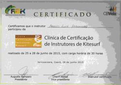 Certificado ABK intrutor nivel 1