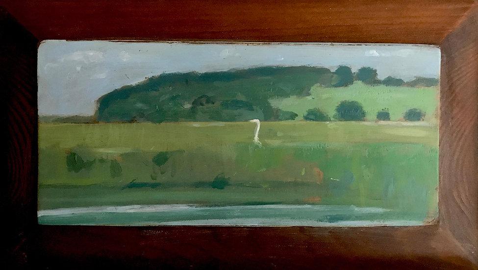 Hog Island with Egret