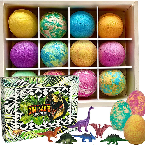 Dino Egg Bath Bombs for Kids with surprise Dinosaurs inside