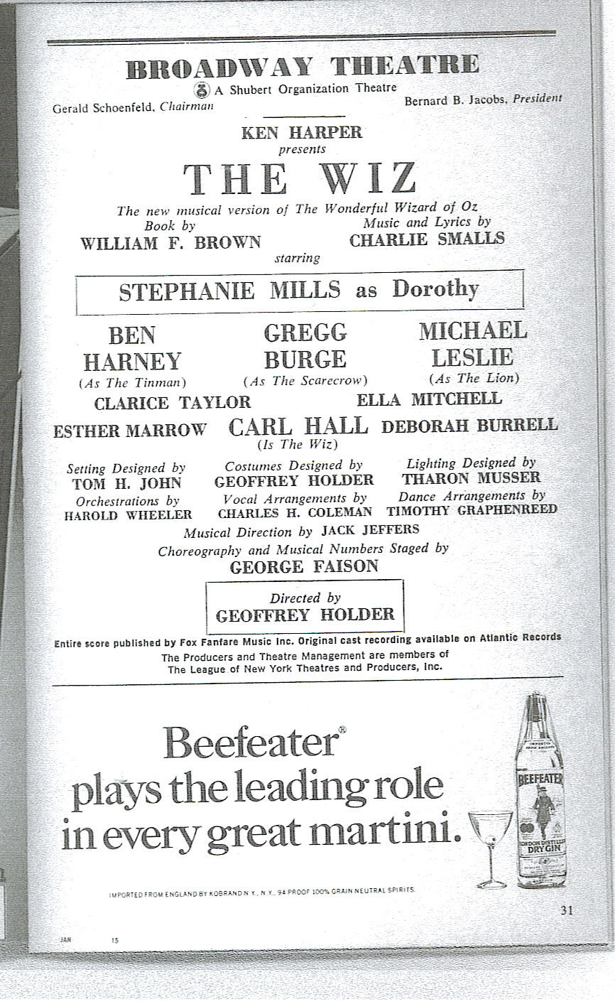Broadway Program