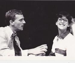 Howard Ashman and Ellen Greene