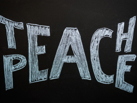 Q. What is your stance in relation to peace in the classroom, and how do you promote it in practice?