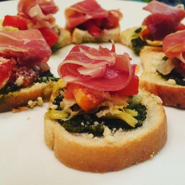 Artichoke & Prosciutto Crostini #ChefJarvis #love #TagsForLikes