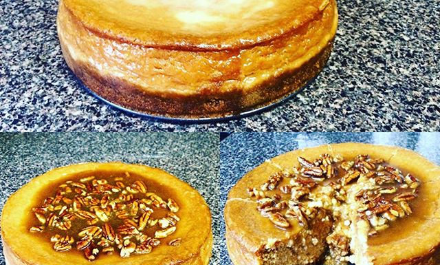 Sweet Potato Cheesecake with a Pecan Glaze