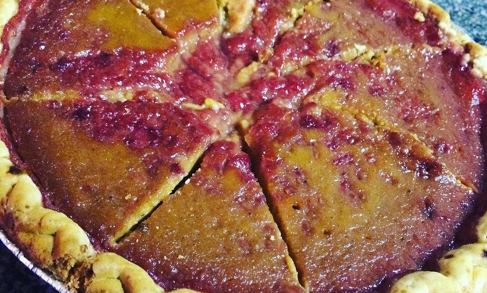 Raspberry Sweet Potato Pie