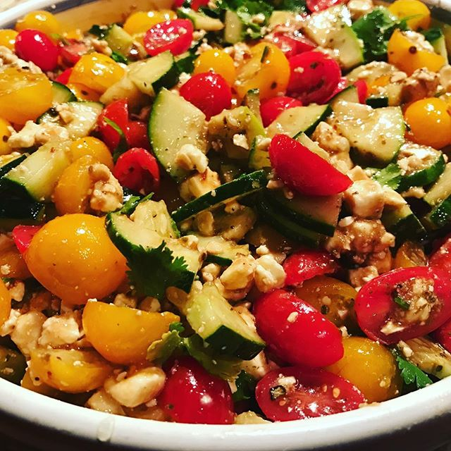 Tomato & Feta Salad #ChefJarvisWilliams #SocialExpressCatering #BlueRidgeMountains #foodography #bes