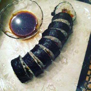 Grilled Zucchini & Cilantro Sushi #ChefJarvis
