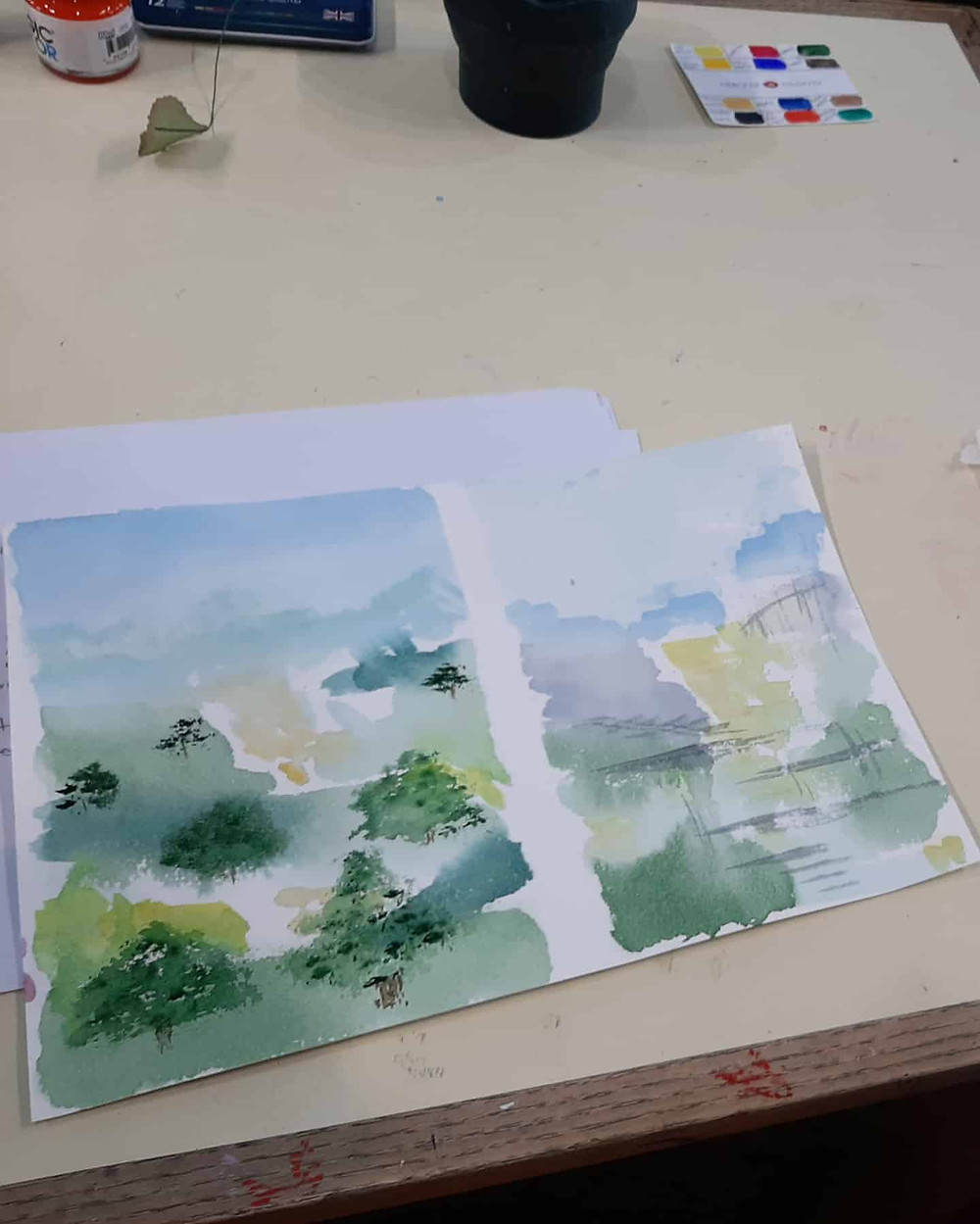 Watercolour workshop, Wimborne Art Tutor, Tina Peacock Art, Art classes Dorset