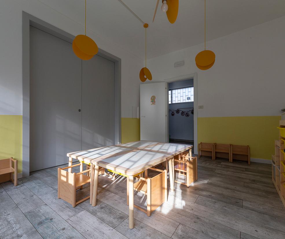 sezione per le attività ai tavoli