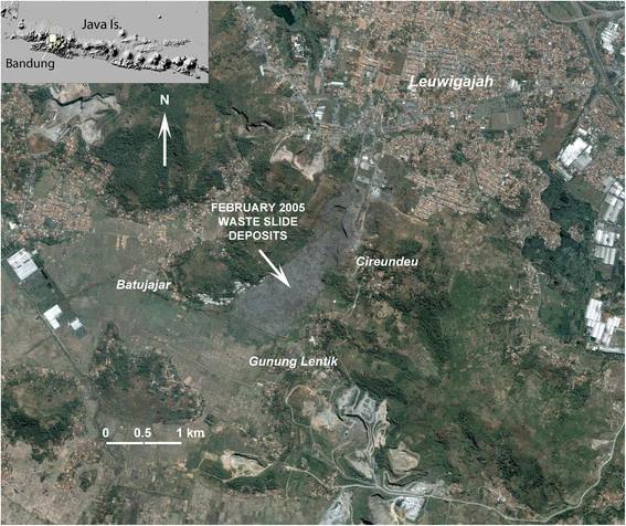 CLOCC waste slide in Leuwigajah dumpsite