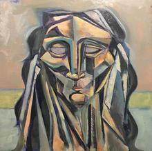 Portrait of Tonya 12x12 oil on board