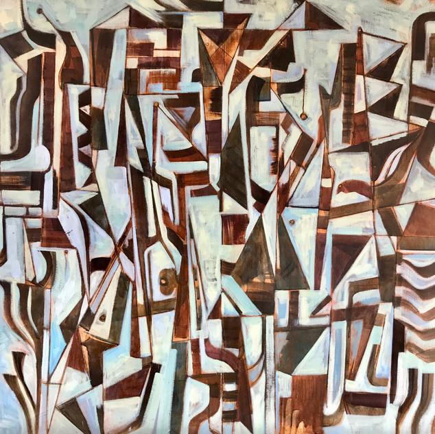 """Composition"" 36""x 36"" Oil on canvas"