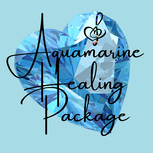 Aquamarine Healing Package: 4 Distance Sessions with Sound Healing