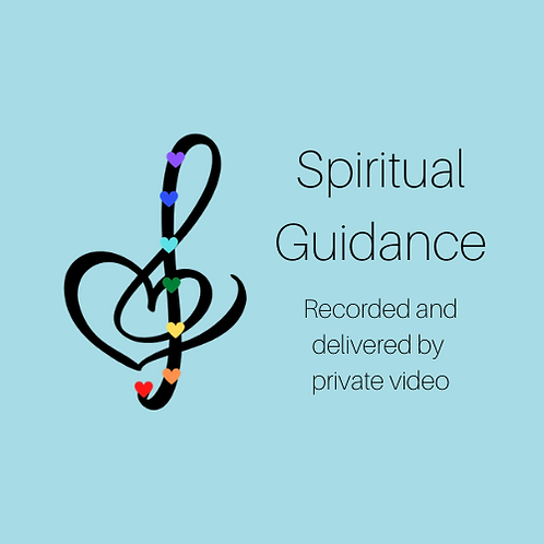 Spiritual Guidance:  Recorded & delivered by private video