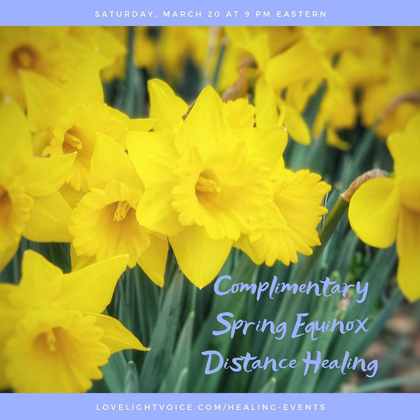 Complimentary Spring Equinox Distance Healing