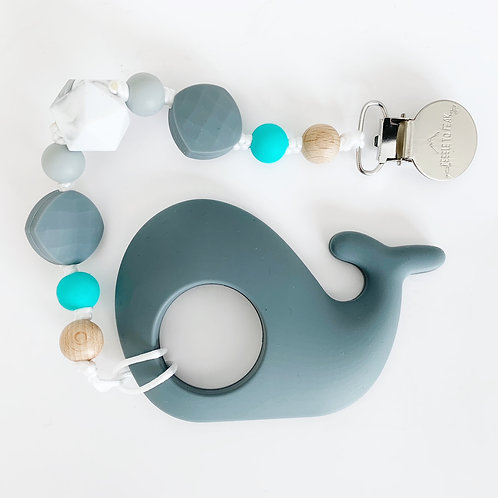 Whale Teether - New Taylor Clip