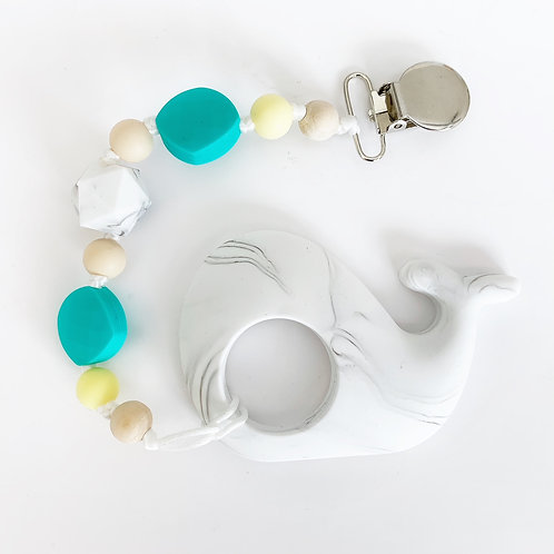 Whale Teether - Taylor Clip