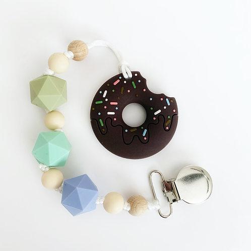 Donut Teether - Oliver Clip