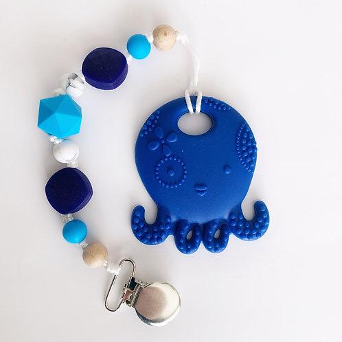 Octopus Teether - Lucas Clip