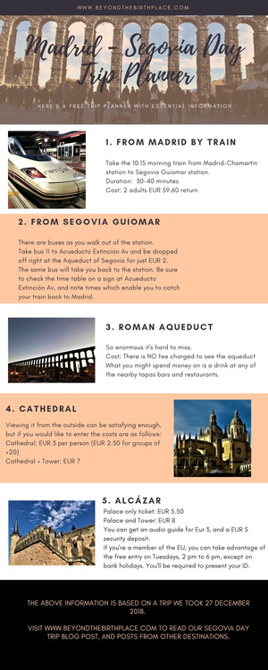 Madrid to Segovia Day Trip Planner