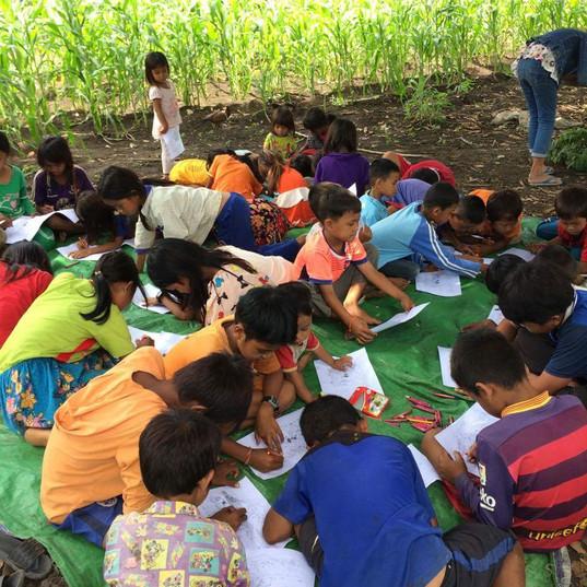 Children School in the Village