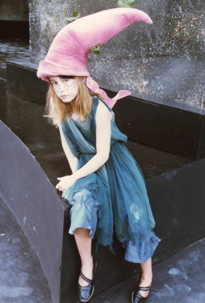 "Me at 7yo at Vaison La Romaine Amphitheatre, France, duting ""Cinderella""'s rehearsals"