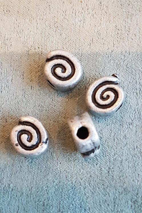 Metallzierperle Spirale