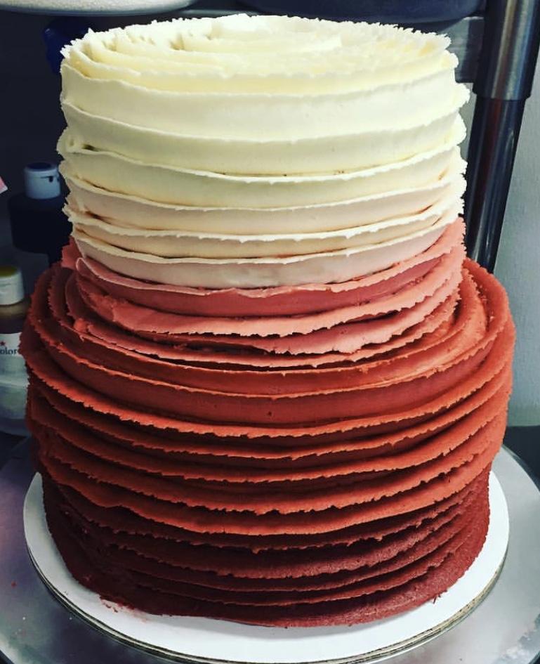 2-Tiered Ruffled Cake