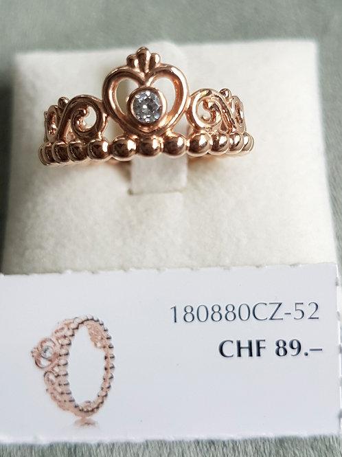 PandoraRing 925 Sterling Silber rosé vergoldet mit Zirkonia
