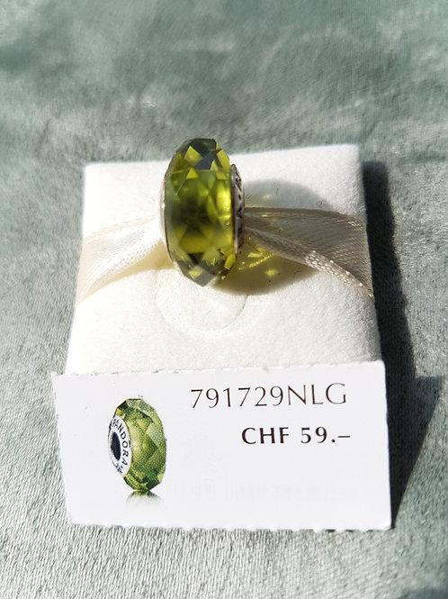 Murano, oliv , facettiert, 925 Sterlingsilber