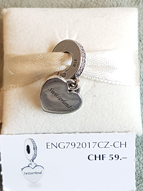 "SpezialEdition Hängerli ""Switzerland""925 SterlingSilber, Zirkonias"