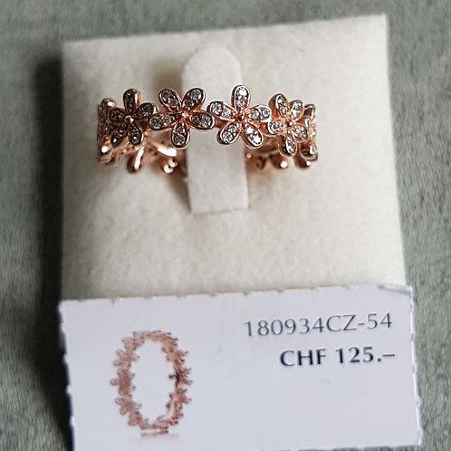 PandoraRing Gänseblümchen 925 Sterling Silber rosé vergoldet mit Zirkonia