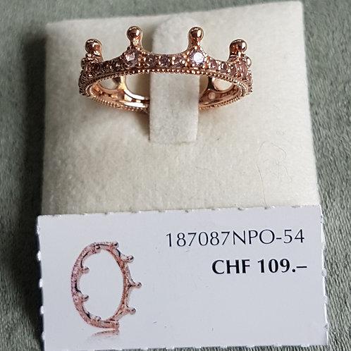 PandoraRing Krone 925 Sterling Silber rosé vergoldet mit Zirkonia
