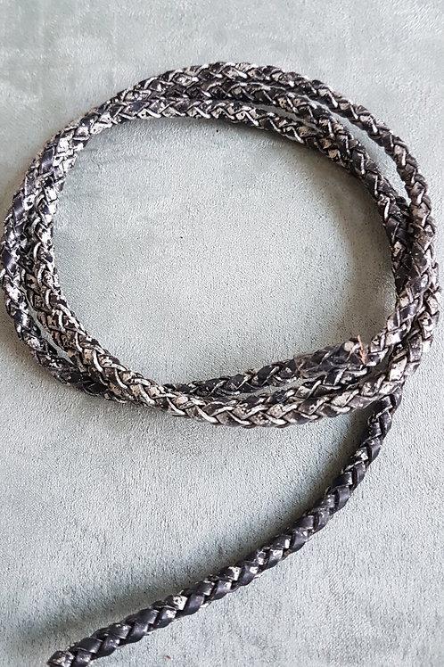 Lederband, geflochten,1m lang