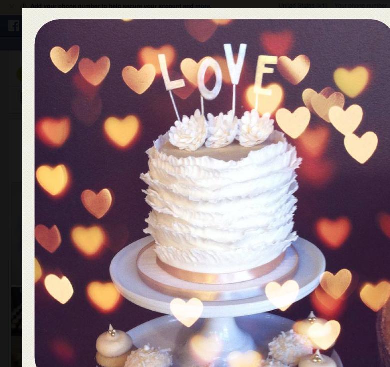 Love ruffle cake