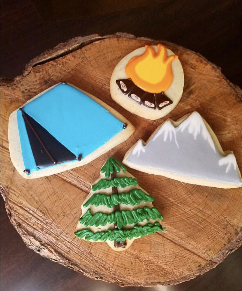 Camping Cut Sugar Cookies